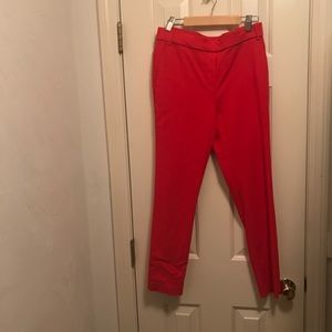 Jules and Leopold red ankle pants